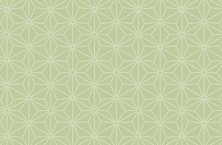 Japanese traditional pattern kimono flower background green