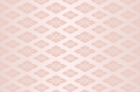 Japanese traditional flower pattern vector background pink 일러스트