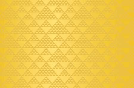 Japanese traditional pattern triangle motif vector background gold