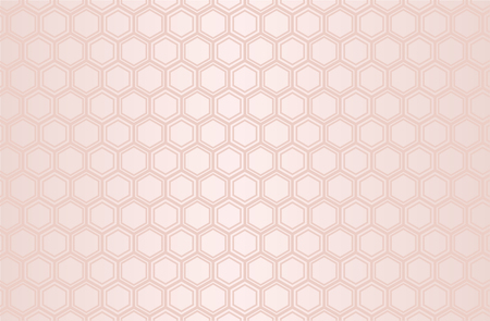 Japanese traditional  hexagonal geometric pattern vector background pink