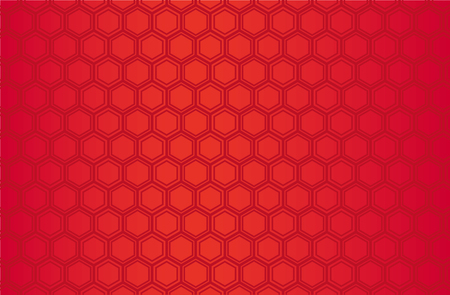 Japanese traditional  hexagonal geometric pattern vector background red