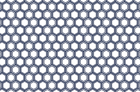 Japanese traditional  hexagonal geometric pattern vector background navy blue 일러스트