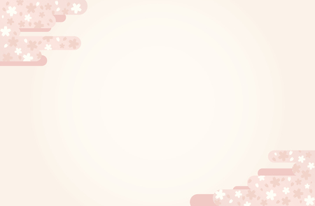 Japanese traditional  sakura pattern vector frame background