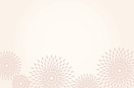 Japanese traditional  flower pattern vector background