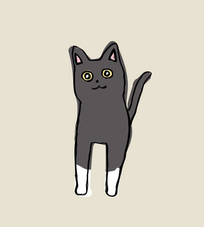 Pointed cat  vector illustration