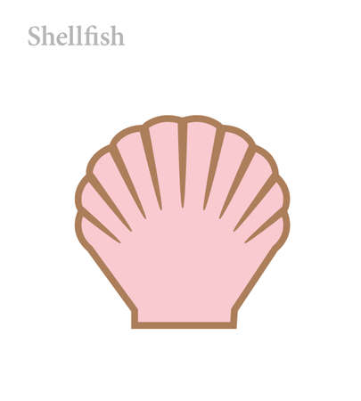 Shellfish icon vector illustration