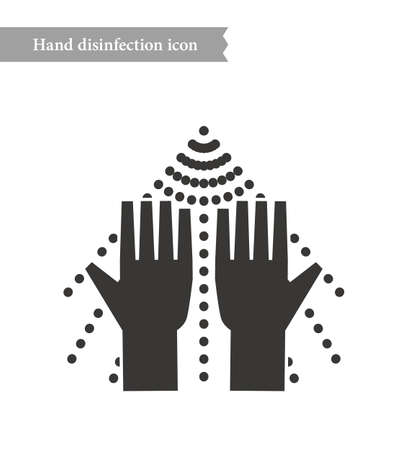 Disinfection and sterilization spray icon