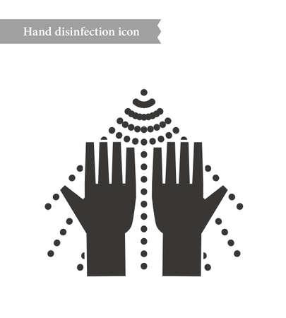 Disinfection and sterilization spray icon