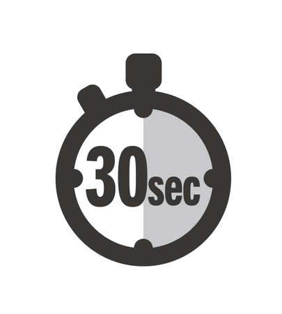 Simple 30 Seconds timer clock icon 向量圖像