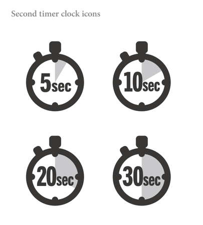 Simple 10 Seconds timer clock icon