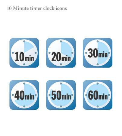 Simple 10 minutes timer clock icon 向量圖像