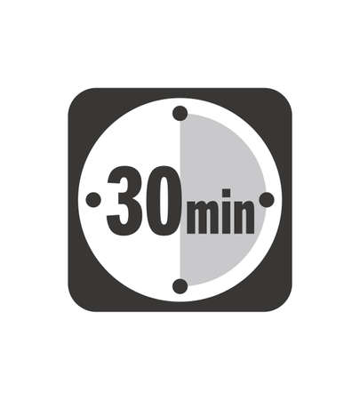 Simple 30 minutes timer clock icon