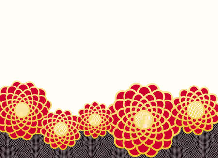 Japanese traditional pattern for kimono chrysanthemum Flower background