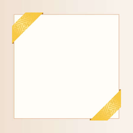 Japanese traditional pattern vector ribbon square