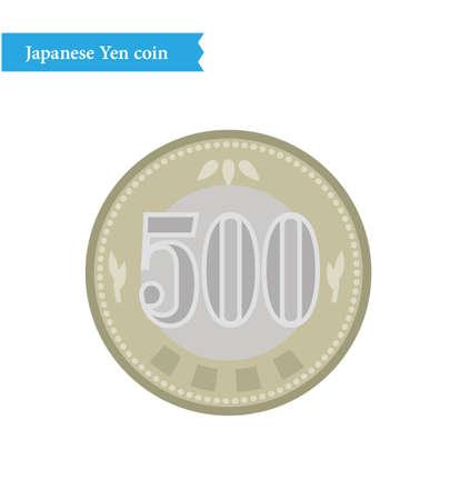 Japanese 500 yen coin bank from 2024 illustration Vector Illustration