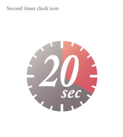 Simple 20 Seconds timer clock icon