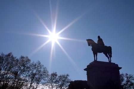 Garibaldis equestrian statue