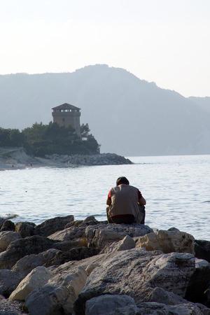 Solitari a Portonovo - Italia Archivio Fotografico - 88936222