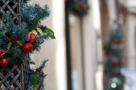 Decorazioni natalizie a Innsbruck - Austria Archivio Fotografico - 97713820