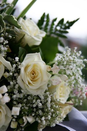 white bouquet - wedding Archivio Fotografico