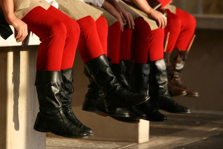 medieval legs in historical re-enactment