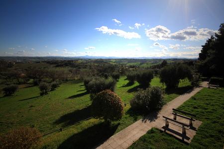 Panorama dalle colline di Senigallia - Italia Archivio Fotografico - 94535418