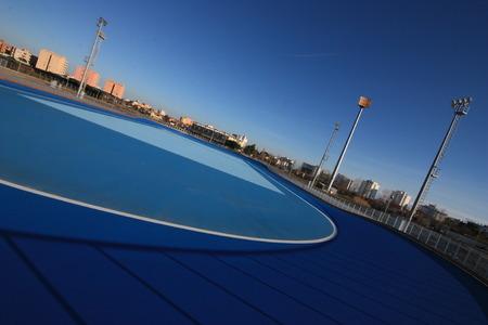 skate park in Senigallia - Italy Banco de Imagens
