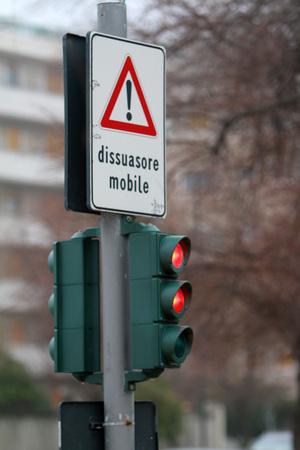 traffic light - mobile bollard