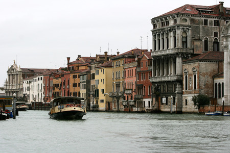 Venice - Italy - boat on Canal Grande Editorial