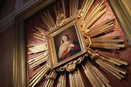 painting of the Holy Virgin Mary in the church of Santa Maria del ponte al porto in Senigallia - Italy