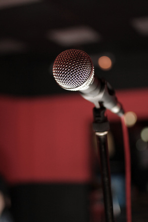 microphone on stage - rock concert