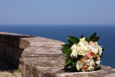 Giorno del matrimonio - bouquet Archivio Fotografico - 99337441