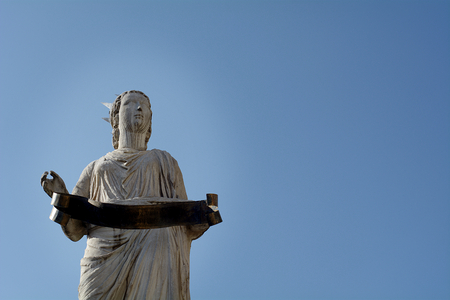 madonna: Verona the statue of Madonna Stock Photo