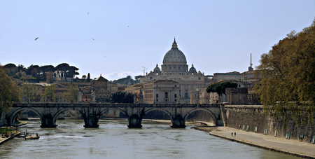 tiber: The vatican and the river Stock Photo