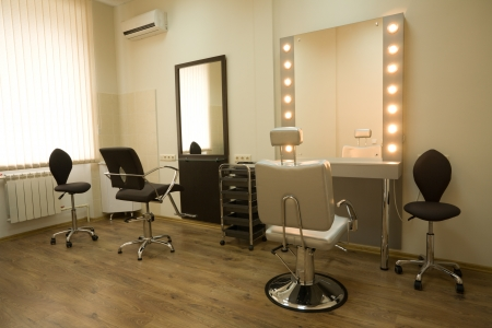 salon: Cabinet make-up artist and hairdresser Stock Photo