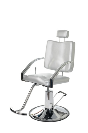 designer chair: Special makeup artist chair isolated on white.
