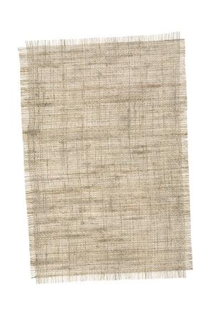 Pieza arpilleras aisladas sobre fondo blanco. Foto de archivo
