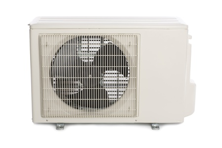 External power of the new air conditioner. Modern design. photo