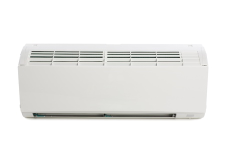 Inner block of a new air conditioner. Modern design. photo