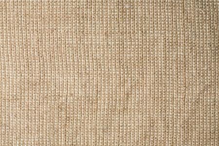 Piece sackcloth isolated on a white background. photo