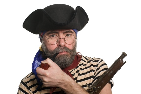 privateer: Pirate with a pipe and a musket