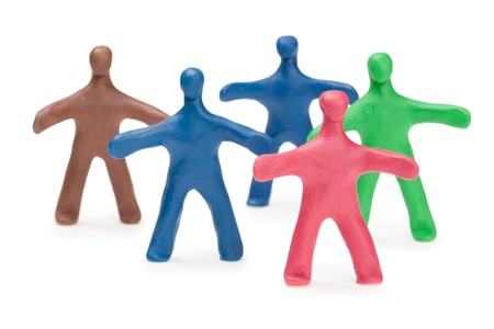Team fellows from color plasticine Stock Photo - 10332885