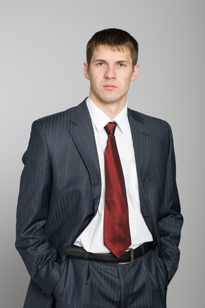 Portrait of a handsome young businessman. photo