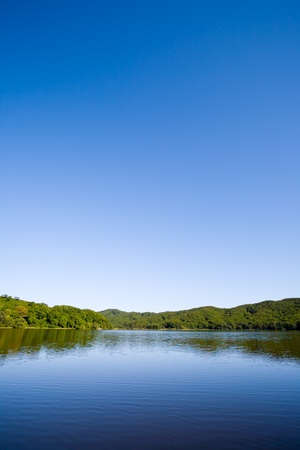 Blue lake in the evening. Stock Photo - 10532446