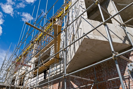 Construction of a new building  Stock Photo - 10530968