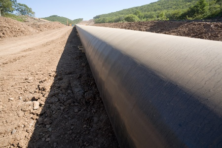 Construction of a new oil pipeline.  photo