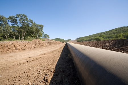 trench: Construction of a new oil pipeline.