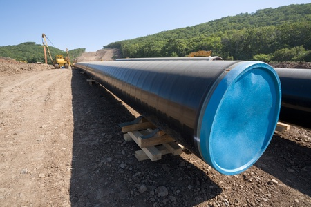 cilindro de gas: Construcci�n de un nuevo oleoducto.