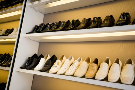 men's shoes in a store Stock Photo - 10531026