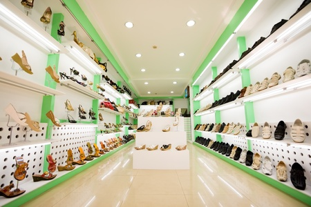 women's & men's shoes in a store Stock Photo - 10531014